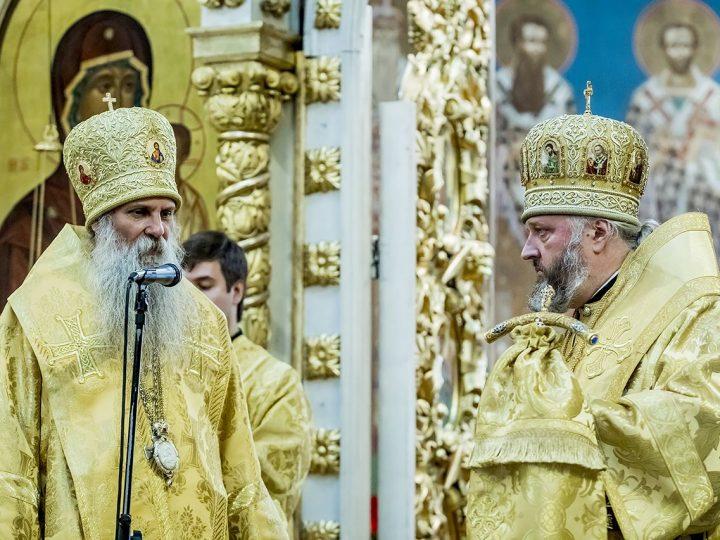 Митрополит Аристарх и епископ Пакрацко-Славонский Йован совершили Литургию в кафедральном соборе
