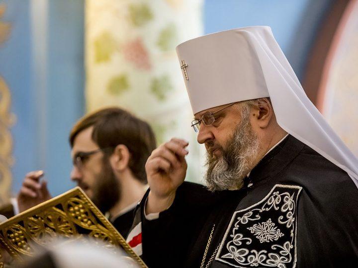 Последнюю часть Великого канона митрополит прочел в Свято-Успенском женском монастыре в Елыкаево