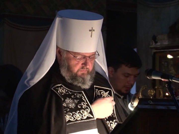 Чтение канона Андрея Критского в знаменском кафедральном соборе