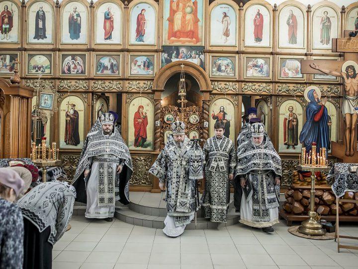 В Великую Среду митрополит посетил приход иконы Божией Матери «Утоли моя печали» в Кемерове