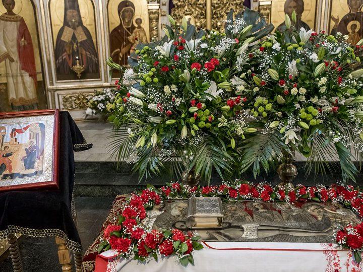 В канун Великой Субботы и Благовещения митрополит совершил утреню в кафедральном соборе