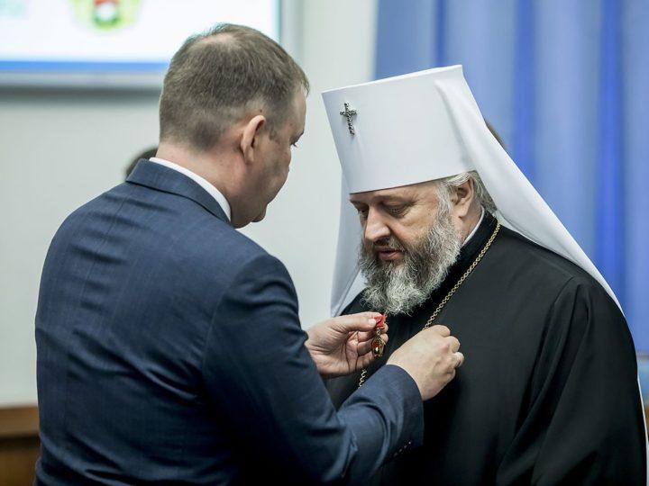 Митрополита Аристарха отметили юбилейным знаком «Гордость столетия»