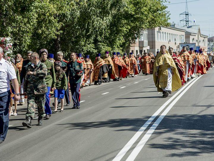 В день убиения Царственных страстотерпцев в Ленинске-Кузнецком прошли памятные мероприятия