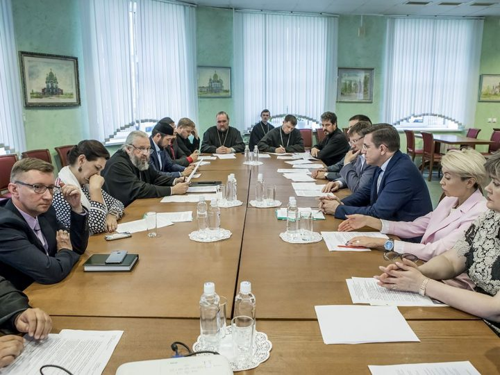 В преддверии нового учебного года митрополит Кемеровский и Прокопьевский Аристарх встретился с ректорами кемеровских вузов