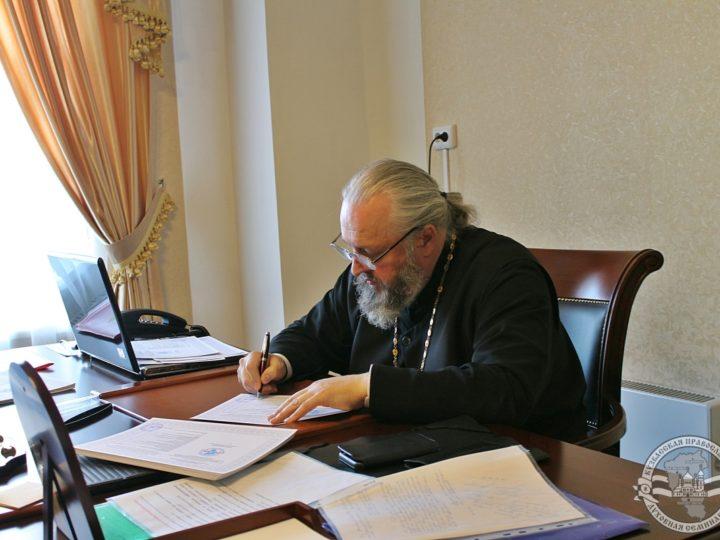 Митрополит Аристарх провёл рабочий день в духовной школе Кузбасса