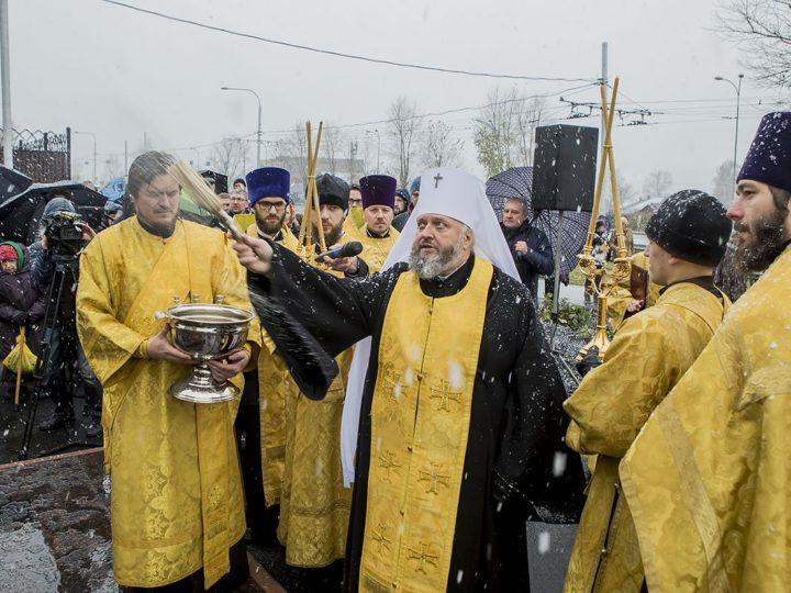 В Кемерове состоялось открытие и освящение памятника святым князьям Муромским