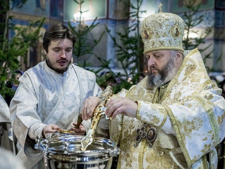 В праздник Крещения Господня митрополит Аристарх совершил чин Великого освящения воды в Знаменском соборе