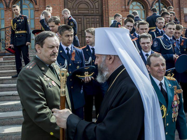 Георгиевский храм Кемерова в престольный день собрал защитников Отечества