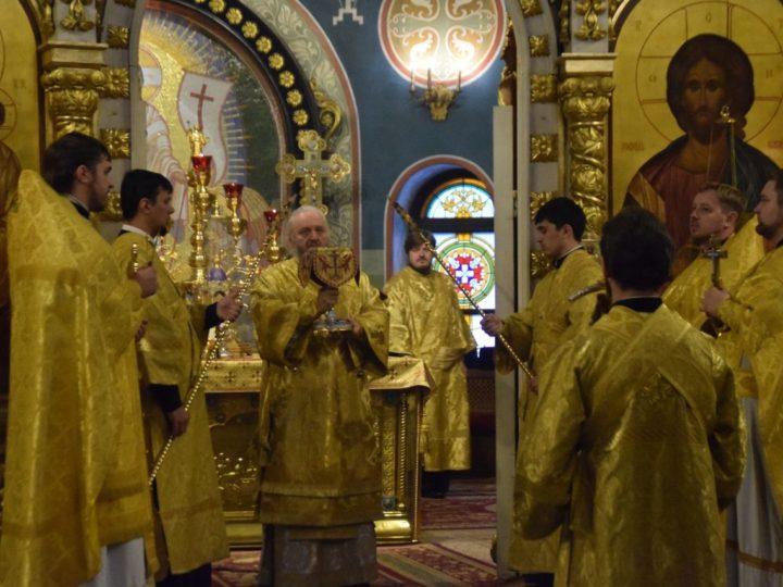 Митрополит совершил воскресные богослужения в кафедральном храме