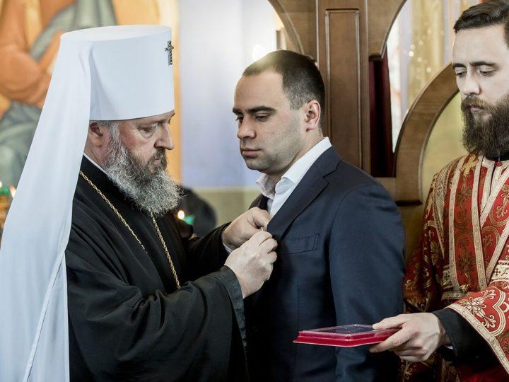 На Кузбасском литейном заводе в Кемерове освятили храм в честь великомученицы Варвары