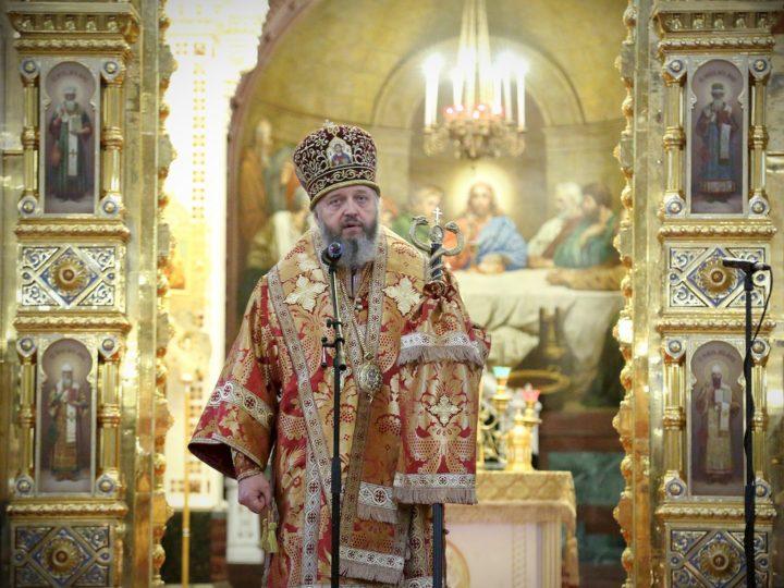 В день памяти великомученицы Варвары митрополит Аристарх возглавил богослужение в Кафедральном Соборном Храме Христа Спасителя в Москве