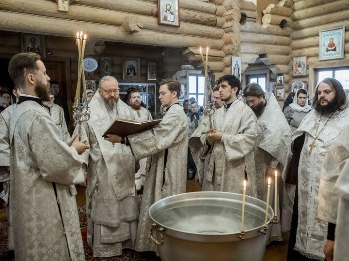 В Крещенский Сочельник митрополит совершил богослужение в храме благоверного князя Александра Невского