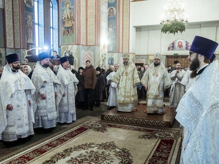 В неделю по Рождестве Христовом глава митрополии посетил Мариинскую епархию