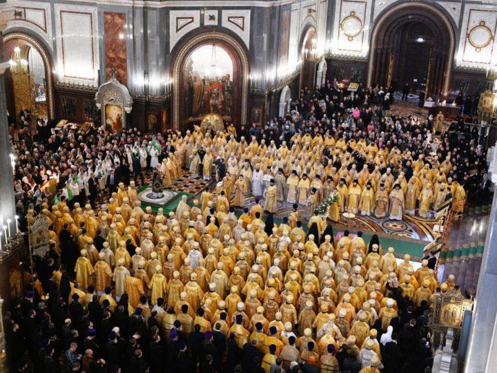 Архиереи митрополии сослужили Предстоятелю Русской Церкви в день одиннадцатой годовщины его интронизации