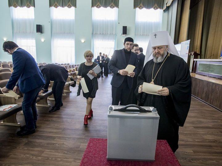 Митрополит Аристарх принял участие в работе Общественной палаты Кемеровской области