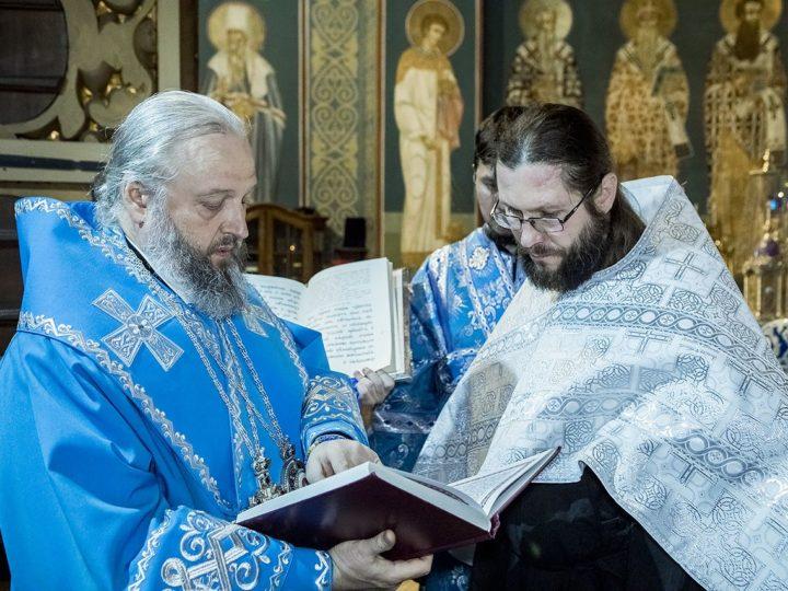 Митрополит Аристарх совершил Всенощное бдение в кафедральном соборе накануне праздника Благовещения