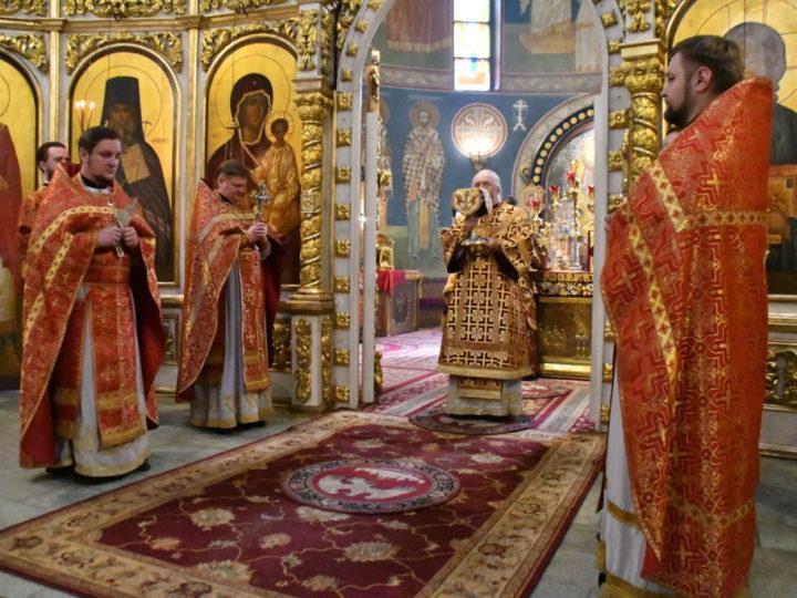 В неделю о самарянке глава митрополии совершил богослужение в кафедральном соборе