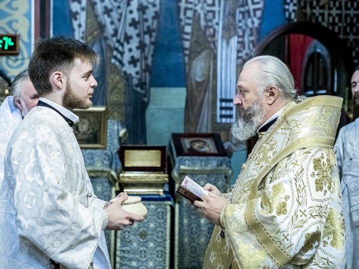 В праздник Вознесения митрополит совершил диаконскую хиротонию