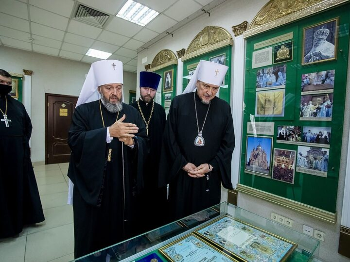 12 сентября 2020 г. Встреча митрополита Аристарха с митрополитом Мурманским и Мончегорским Митрофаном