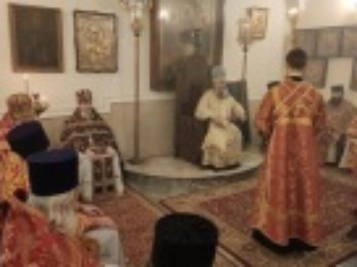 Иерарх Грузинской Православной Церкви возглавил торжества по случаю праздника «Гиоргоба» в московском храме великомученика Георгия Победоносца