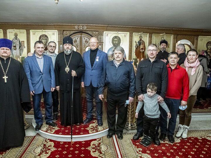 21 ноября 2020 г. Малое освящение нижнего придела Михайловского храма рядом с посёлком «Европейские провинции»
