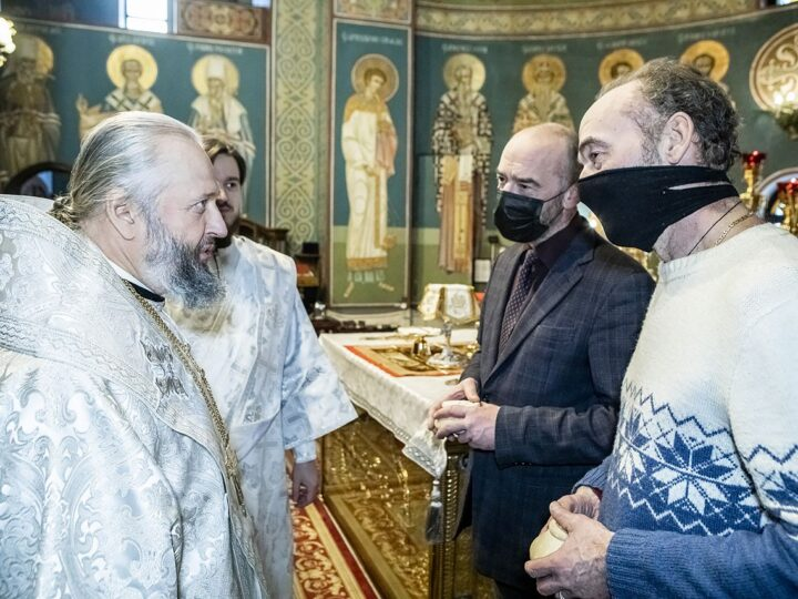 Митрополит Аристарх встретился с актёрами Торсуевыми