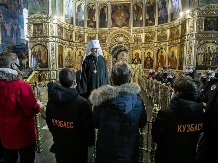 Призёров Кубка Патриарха встретили в Знаменском соборе