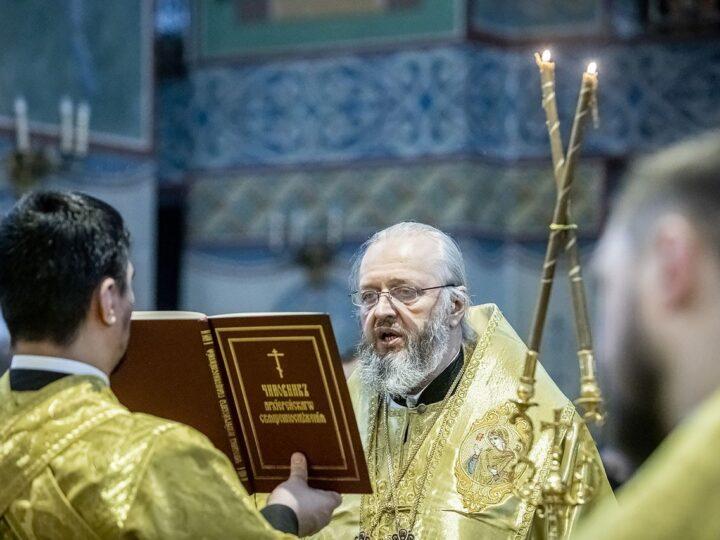 В главном храме Кузбасса совершили чин Торжества Православия