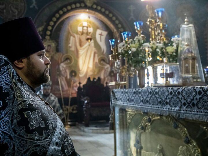 26 апреля 2021 г. Литургия Преждеосвященных Даров в Знаменском соборе в Великий Понедельник
