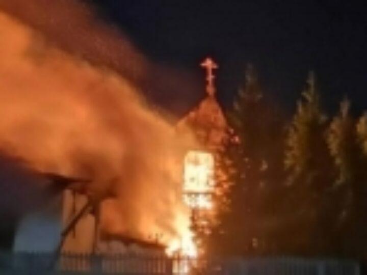 Пожар в Петропавловском женском монастыре Павлодарской епархии полностью уничтожил старое монастырское здание