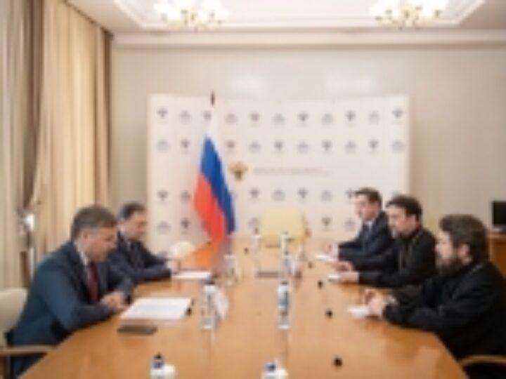 Митрополит Волоколамский Иларион встретился с министром науки и высшего образования РФ В.Н. Фальковым