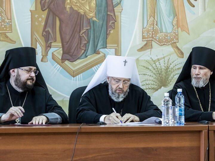Расширенное заседание Архиерейского совета прошло в Кузбасской митрополии