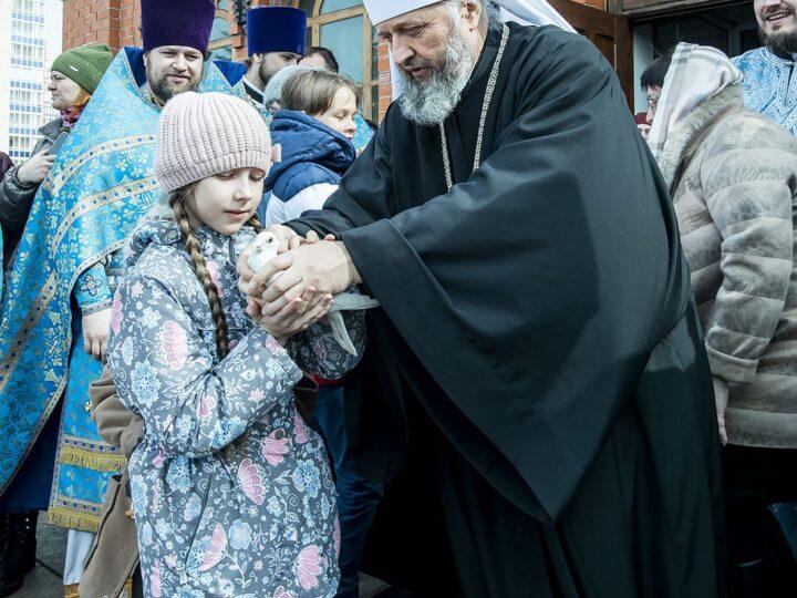 Благовещенскую традицию осуществили в Знаменском соборе