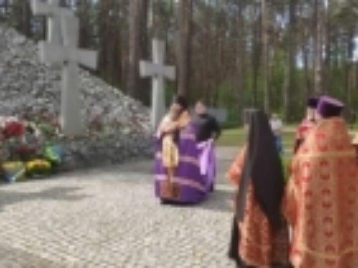 Иерарх Украинской Православной Церкви совершил литию в день памяти жертв политических репрессий 1937-1938 годов в заповеднике «Быковнянские могилы»