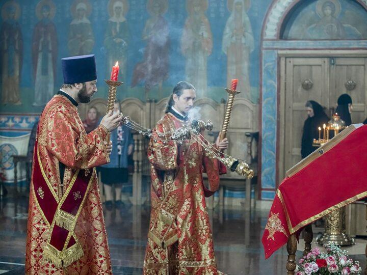 7 мая 2021 г. Великая вечерня в Свято-Серафимо-Покровском женском монастыре Ленинска-Кузнецкого