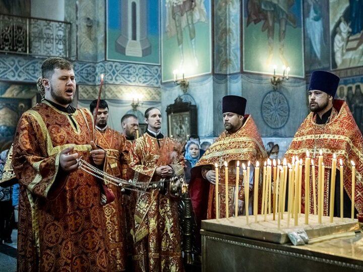 11 мая 2021 г. Радоница в Знаменском кафедральном соборе Кемерова