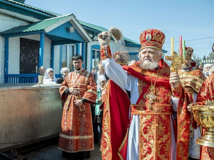 8 мая 2021 г. Светлая суббота. Литургия в Вознесенском храме Белова