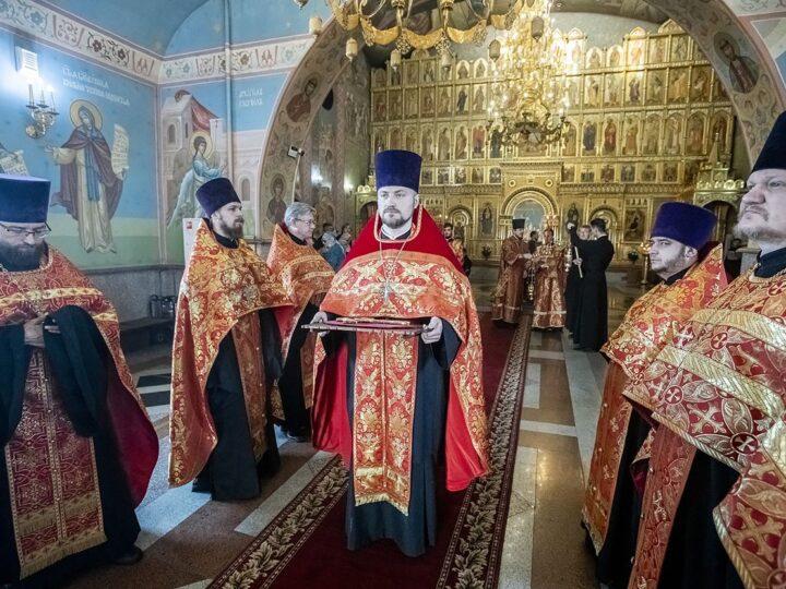 6 мая 2021 г. Великая вечерня в соборе Рождества Христова Новокузнецка