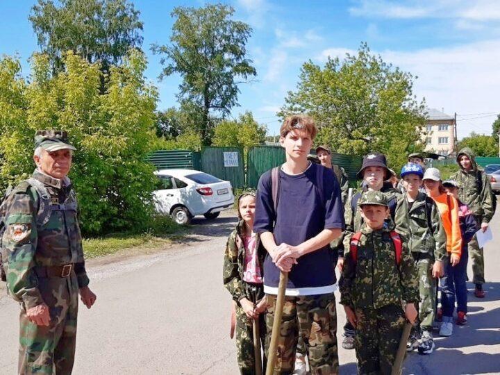 Воспитанники Православного патриотического казачьего клуба совершили поход выходного дня