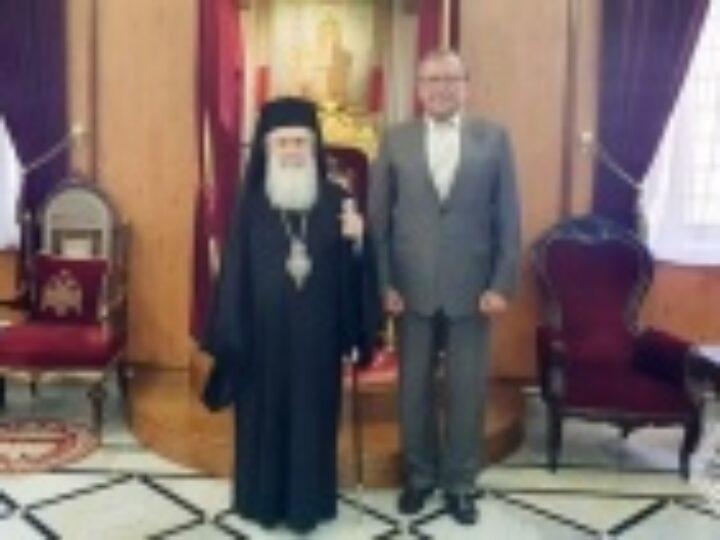 Посол России в Израиле встретился с Блаженнейшим Патриархом Иерусалимским Феофилом