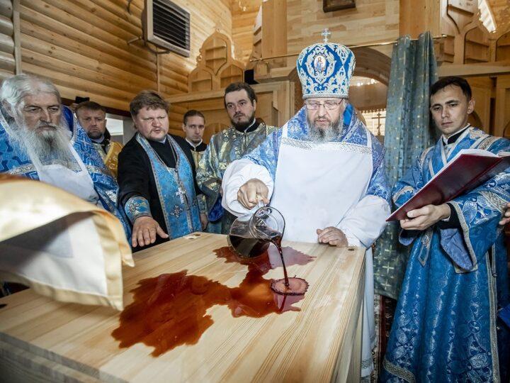 23 июня 2021 г. Освящение храма иконы Божией Матери «Целительница» в селе Лучшево Прокопьевского района