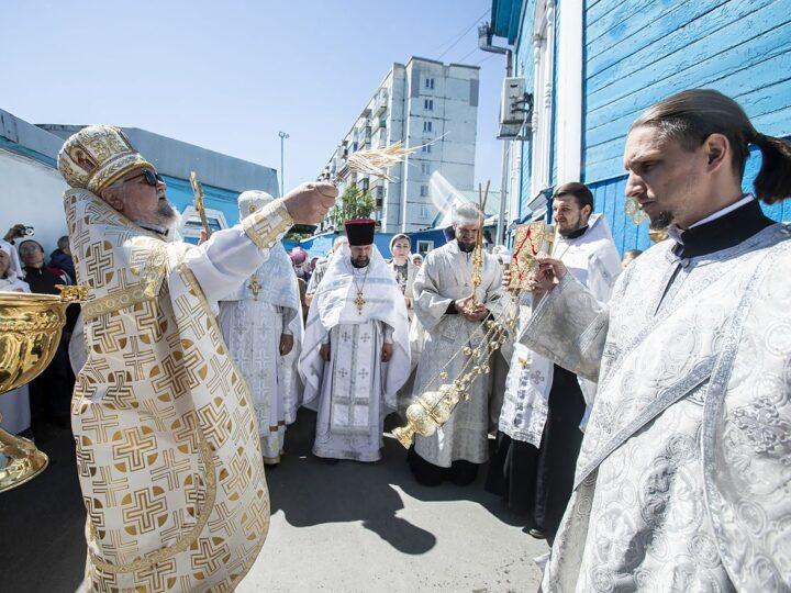 10 июня 2021 г. Престольный праздник Вознесенского храма в Белове