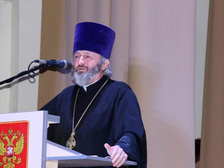 Настоятель Таштагольского храма принял участие в праздничном мероприятии, посвящённом 30-летию социальной службы России