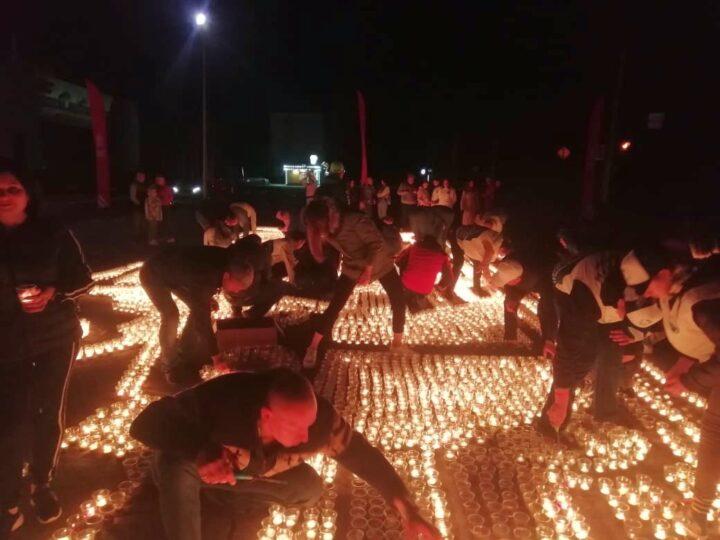 Православная молодёжь Новокузнецка приняла участие в акции «Огненные картины победы»