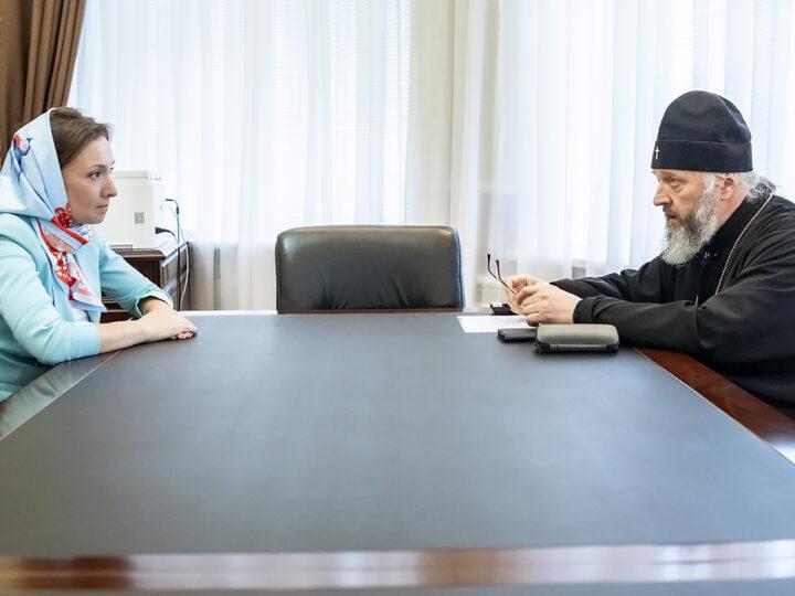 2 июня 2021 г. Посещение Знаменского собора Уполномоченным при Президенте Российской Федерации по правам ребёнка
