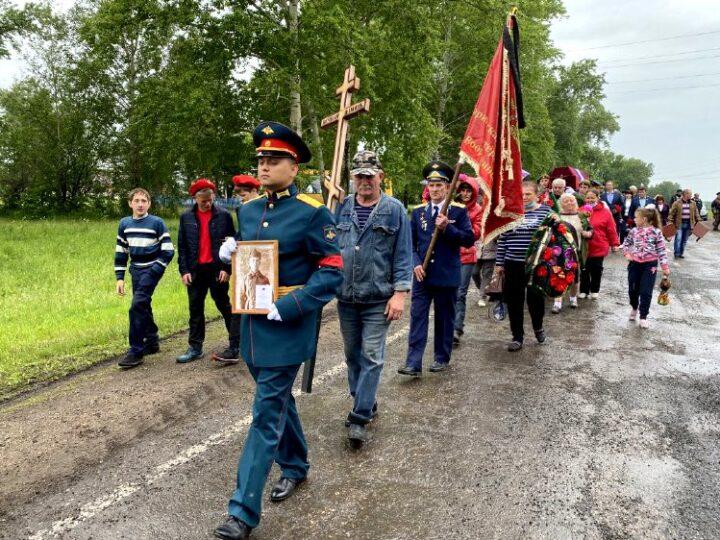 В Мариинской епархии прошло перезахоронение останков солдата Великой Отечественной войны