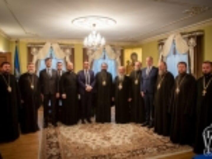 Блаженнейший митрополит Киевский и всея Украины Онуфрий встретился с делегациями Поместных Церквей