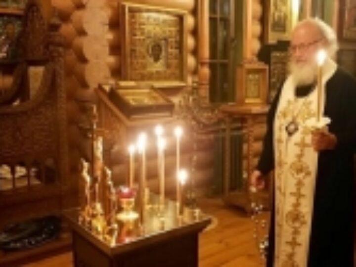 Святейший Патриарх Кирилл совершил панихиду по новопреставленному насельнику Валаамского монастыря архимандриту Мефодию (Петрову)