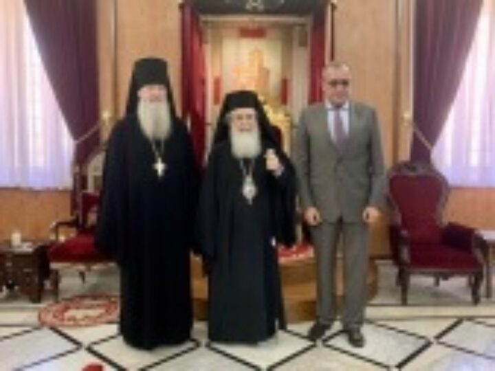 Российский посол в Израиле встретился с Блаженнейшим Патриархом Иерусалимским Феофилом
