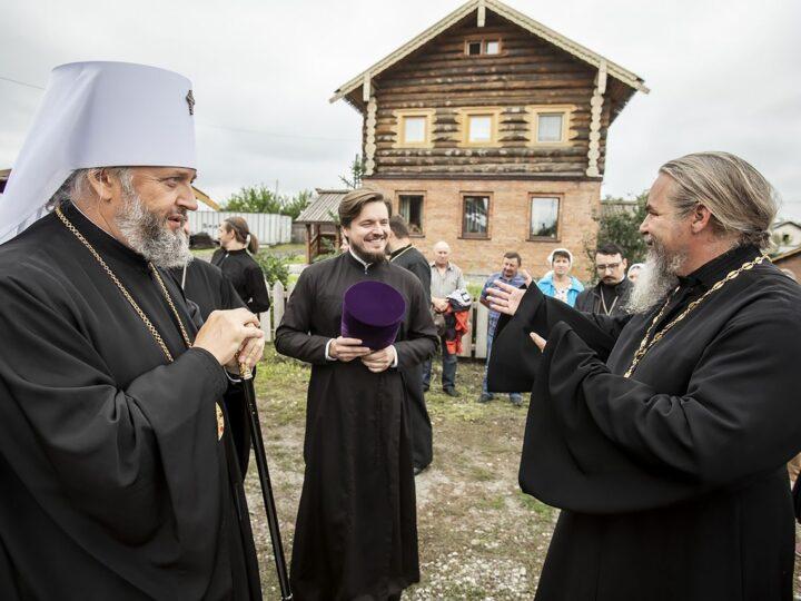 13 августа 2021 г. Освящение храма святителя Николая Чудотворца в посёлке 8 марта города Белово